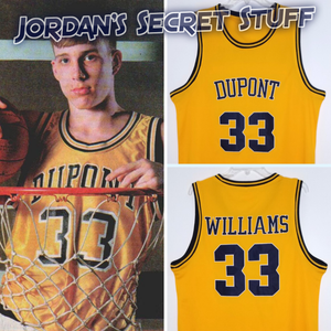 Jason Williams Dupont High School Basketball Jersey Custom Throwback Retro Jersey