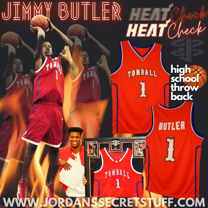 Jimmy Butler High School Tomball Basketball Jersey Custom Throwback Retro College Jersey