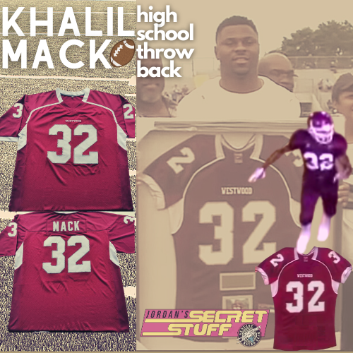 Khalil Mack High School Football Jersey Maroon Westwood Varsity Team Chicago Linebacker