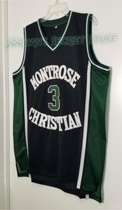Kevin Durant Montrose Christian High School Basketball Jersey Custom Throwback Retro Jersey