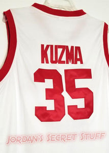 Kyle Kuzma Utah College Basketball Jersey Custom Throwback Retro College Jersey