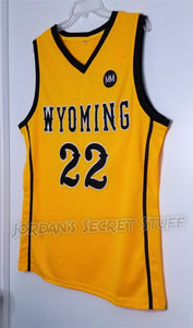 Larry Nance Jr. Wyoming College Basketball Jersey Custom Throwback Retro College Jersey