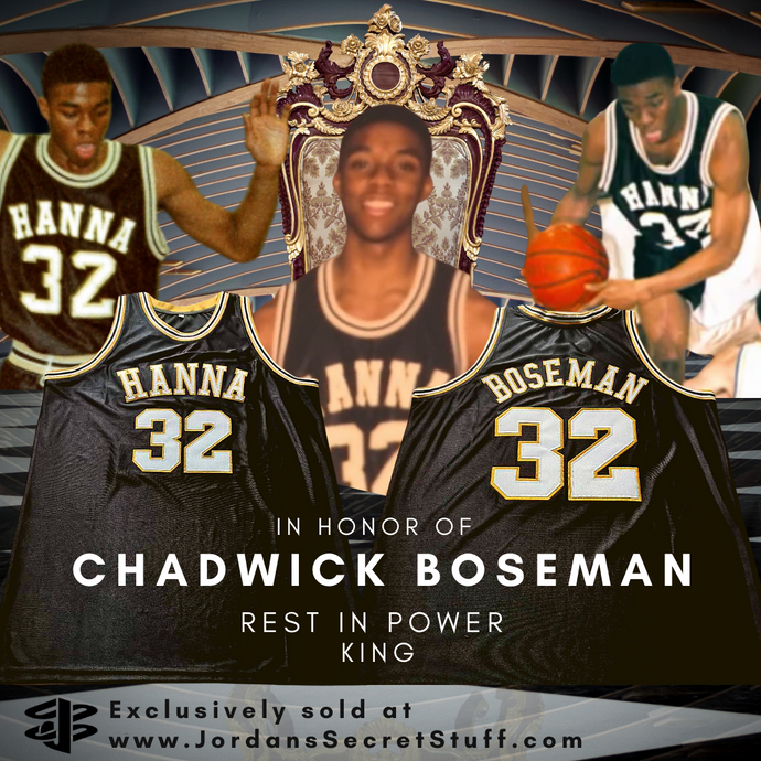 Chadwick Boseman High School Basketball Jersey Black Panther Wakanda JSS Exclusive