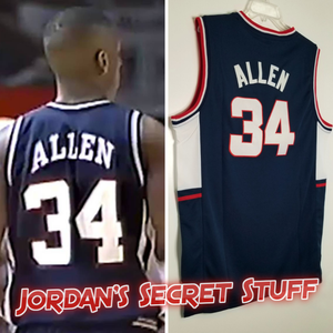 Ray Allen Huskies College Basketball Jersey Custom Throwback Retro College Jersey