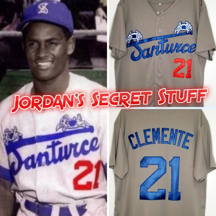 FLASH SALE! Roberto Clemente Santurce Puerto Rico Basketball Jersey Custom Throwback Retro Jersey