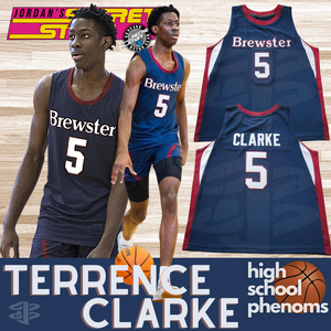 Terrence Clarke High School Phenoms Basketball Jersey Brewster Academy