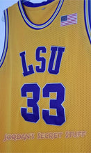 Load image into Gallery viewer, Shaquille O'Neal LSU College Basketball Jersey (Yellow) Custom Throwback Retro College Jersey