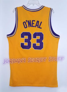 Shaquille O'Neal LSU College Basketball Jersey (Yellow) Custom Throwback Retro College Jersey