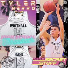 Load image into Gallery viewer, NEW Tyler Herro Whitnall High School Jersey White Colorway