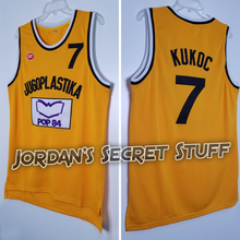 Load image into Gallery viewer, Toni Kukoc Croatia Jugoplastika EuroLeague Basketball Jersey Custom Throwback Retro Jersey