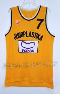 Toni Kukoc Croatia Jugoplastika EuroLeague Basketball Jersey Custom Throwback Retro Jersey