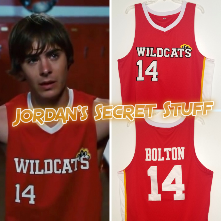 Troy Bolton High School Musical 3 Movie Wildcats #14 Basketball Jersey Custom Throwback Retro Movie Jersey