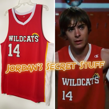 Load image into Gallery viewer, Troy Bolton High School Musical 3 Movie Wildcats #14 Basketball Jersey Custom Throwback Retro Movie Jersey