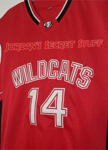 FLASH SALE! Troy Bolton High School Musical Movie Wildcats #14 Basketball Jersey (Red) Custom Throwback Retro Movie Jersey