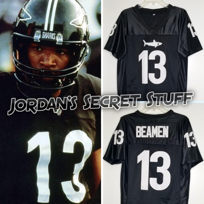 Willie Beamen Any Given Sunday Movie #13 Miami Sharks Football Jersey Custom Throwback 90's Retro Movie Jersey
