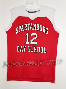 Zion Williamson #12 Spartanburg Day High School Basketball Jersey Custom Throwback Retro Jersey