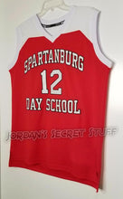 Load image into Gallery viewer, Zion Williamson #12 Spartanburg Day High School Basketball Jersey Custom Throwback Retro Jersey
