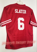 Load image into Gallery viewer, AC Slater Saved by the Bell Bayside #6 Football Jersey Custom Throwback 90's Retro TV Show Jersey