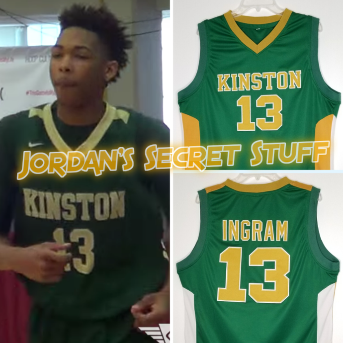 Brandon Ingram Kinston High School Basketball Jersey Custom Throwback Retro Jersey