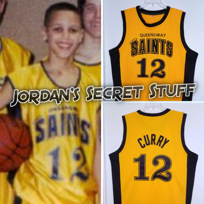 Stephen Curry Queensway Middle School Jersey Throwback Retro Custom Basketball Jersey