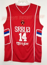 Load image into Gallery viewer, Nikola Jokic Serbia EuroLeague Basketball Jersey Custom Throwback Retro Jersey
