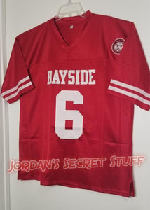 AC Slater Saved by the Bell Bayside #6 Football Jersey Custom Throwback 90's Retro TV Show Jersey