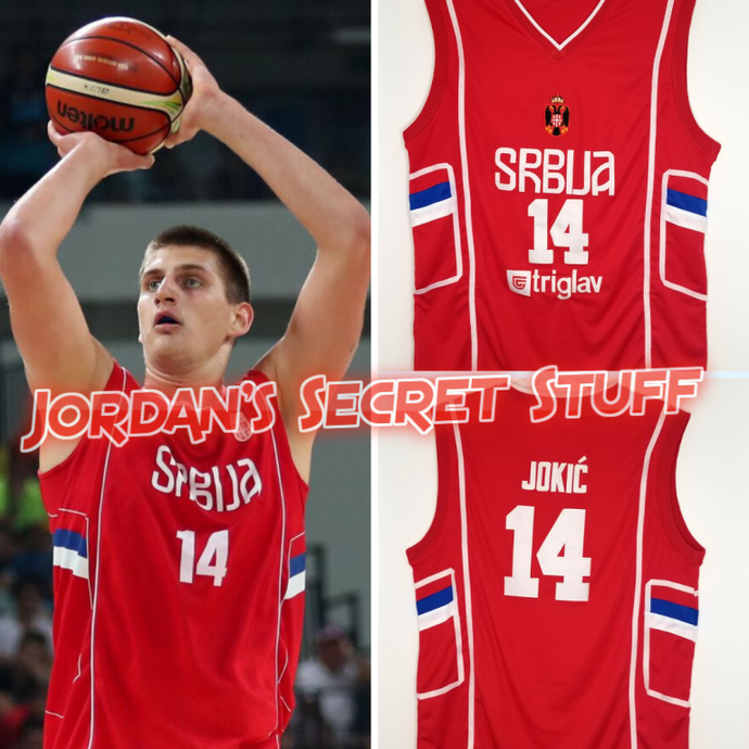 Nikola Jokic Serbia EuroLeague Basketball Jersey Custom Throwback Retro Jersey