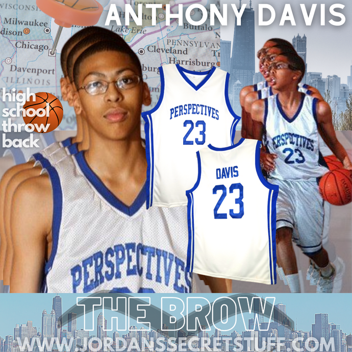 Anthony Davis High School Basketball Jersey AD The Brow Chicago Throwback