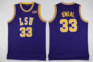 Shaquille O'Neal LSU College Basketball Jersey (Purple) Custom Throwback Retro College Jersey