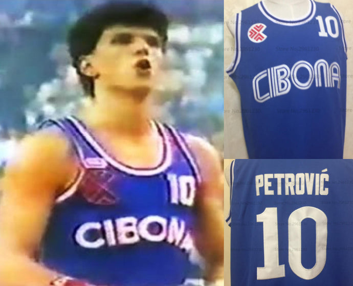 Drazen Petrovic Euroleague Jersey