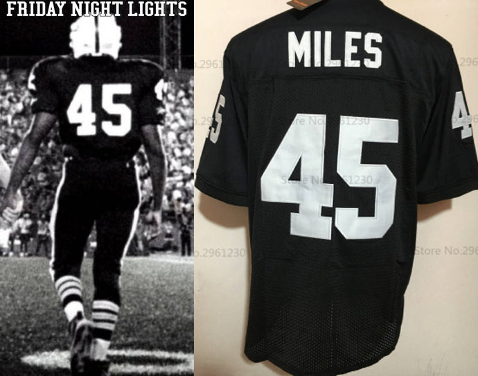 Boobie Miles Friday Night Lights TV #45 Panthers Football Jersey Custom Throwback Retro TV Show Jersey