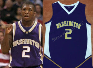Nate Robinson Washington College Basketball Jersey Custom Throwback Retro College Jersey
