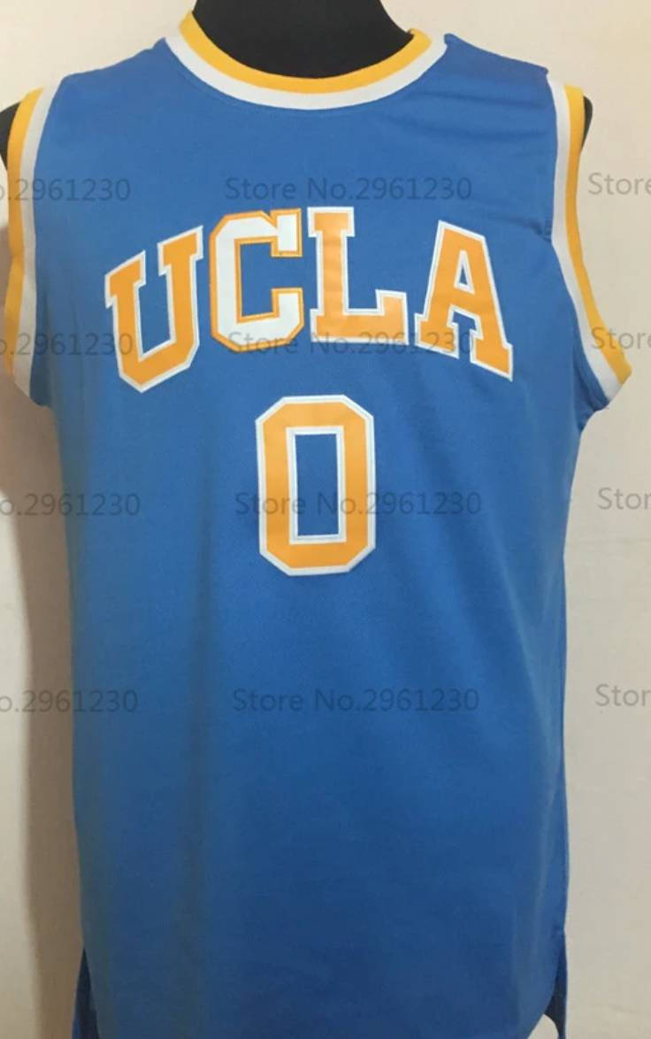 competitive price 60009 0824f Russell Westbrook UCLA College Basketball Jersey (Away) | Custom Throwback  Retro College Jersey