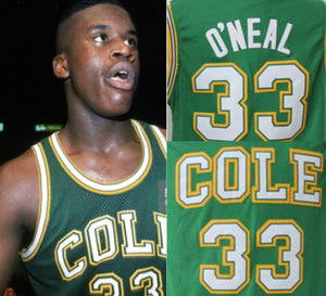 Shaquille O'Neal Cole High School Basketball Jersey Custom Throwback Retro Jersey
