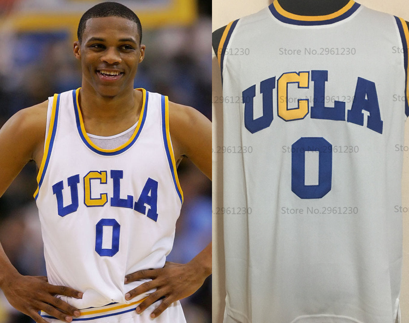 Russell Westbrook UCLA College Jersey Basketball Jersey (Home) Custom Throwback Retro College Jersey