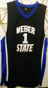 Damian Lillard Weber State College Basketball Jersey (Away) Custom Throwback Retro College Jersey