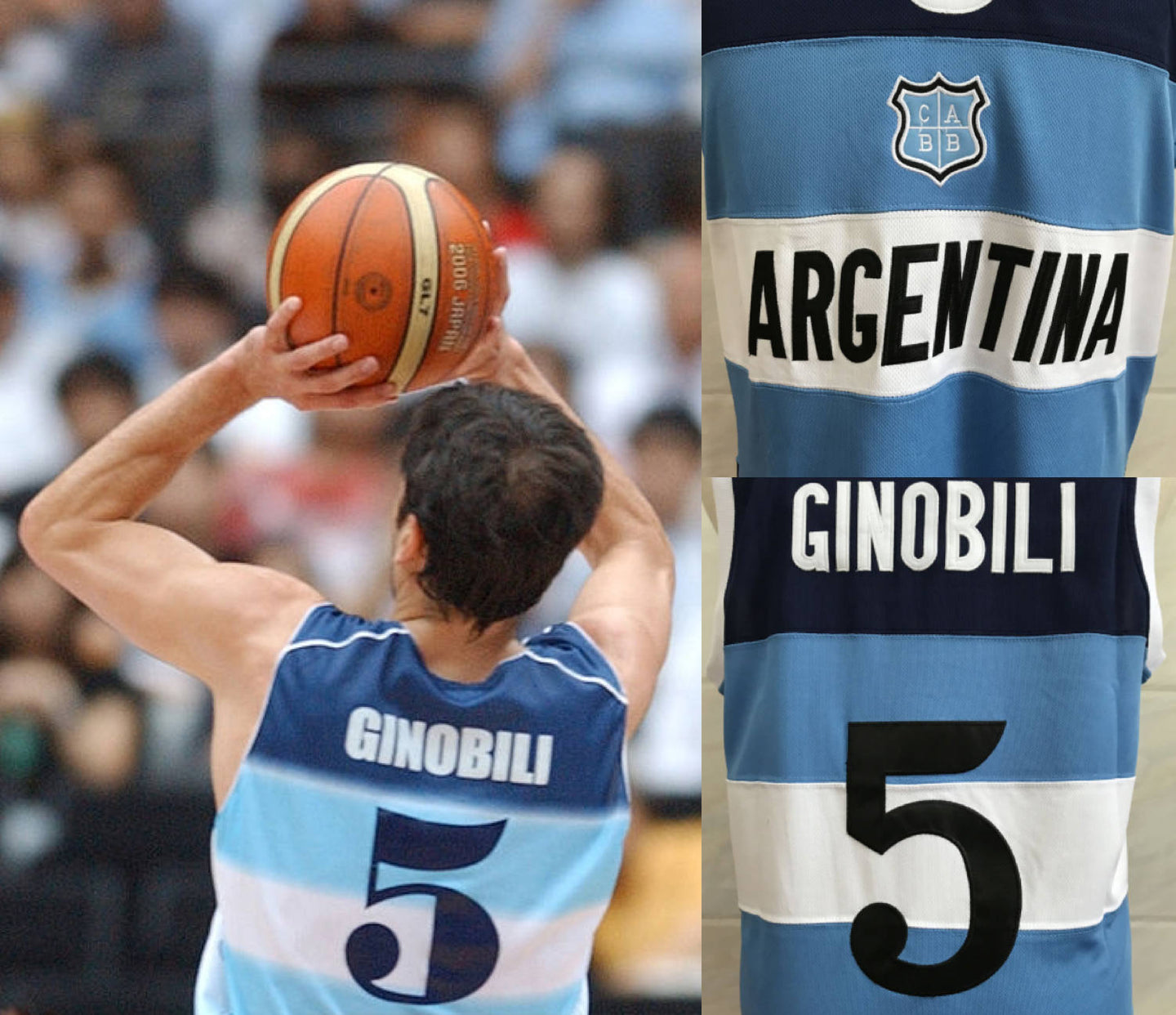 FLASH SALE! Manu Ginobili Argentina Basketball Jersey | Custom Throwback Retro Jersey