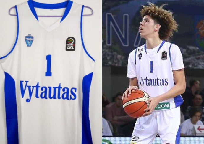 LaMelo Ball Lithuania Vytautas Basketball Jersey Custom Throwback Retro Jersey