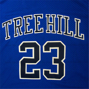 Nathan Scott One Tree Hill TV #23 Basketball Jersey (Blue) Custom Throwback Retro TV Show Jersey