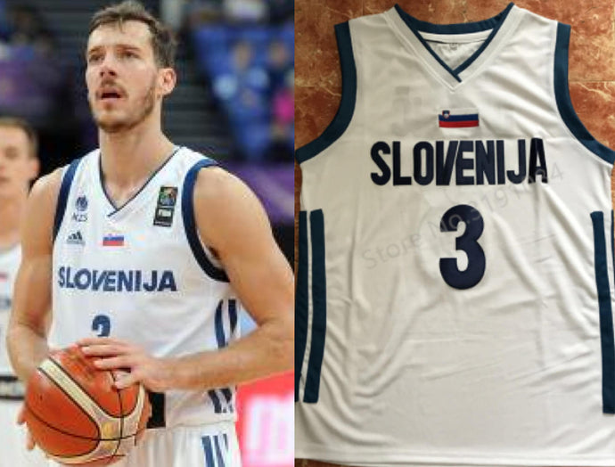 Goran Dragic Slovenia EuroLeague Basketball Jersey Custom Throwback Retro Jersey