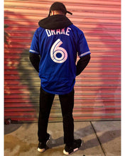 "Load image into Gallery viewer, Drake ""More Life"" Toronto Blue Jays #6 Baseball Music Jersey Custom Throwback Retro Music Jersey"