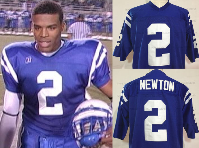 Cam Newton Westlake High School Football Jersey Custom Throwback Retro Jersey