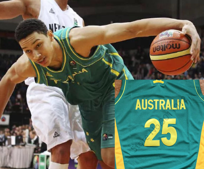 Ben Simmons Australia Basketball Jersey Custom Throwback Retro Jersey