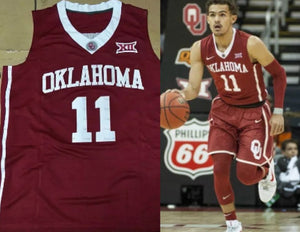 Trae Young Oklahoma Sooners College Basketball Jersey Custom Throwback Retro College Jersey