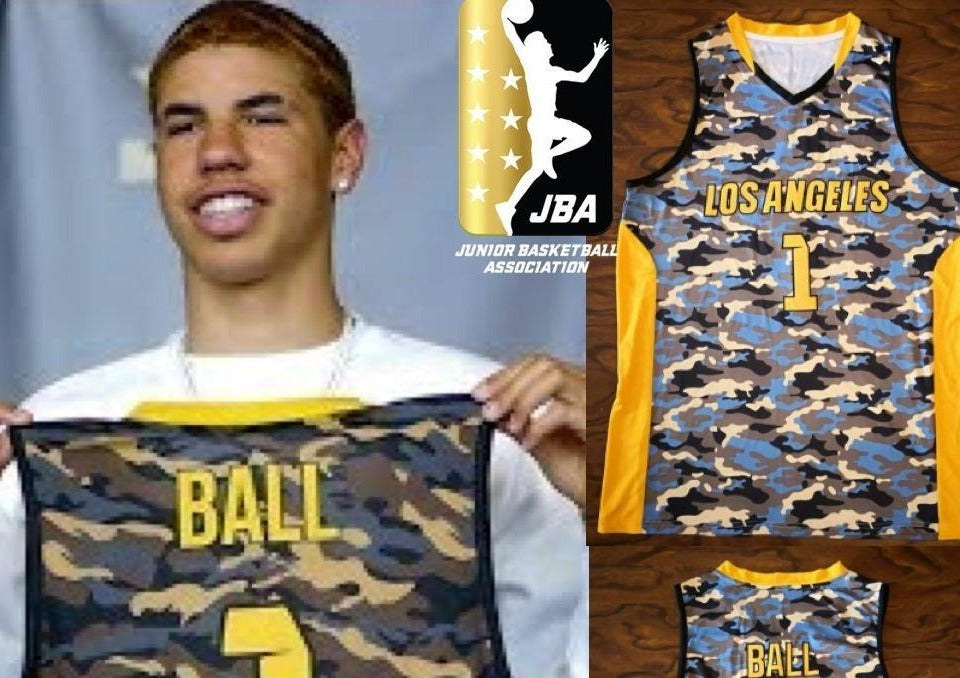 LaMelo Ball JBA Los Angeles League Basketball Jersey Custom Ballers Jersey