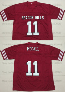 Scott McCall Teen Wolf TV Beacon Hills #11 Lacrosse Jersey Custom Throwback Retro TV Show Jersey