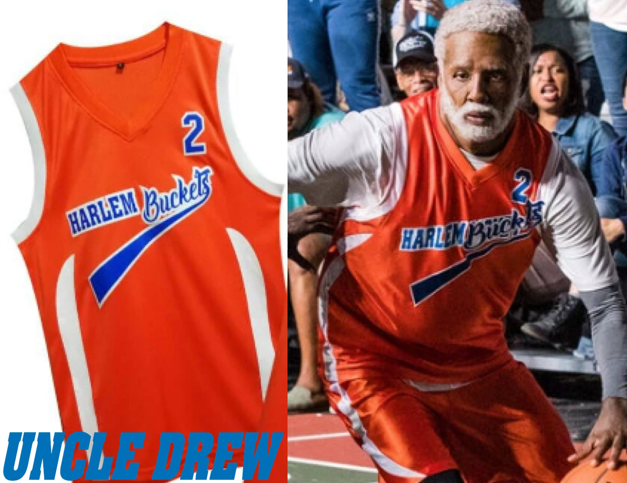 on sale a0952 41012 Uncle Drew Harlem Buckets Movie #2 Basketball Jersey | Custom Throwback  Retro Movie Jersey