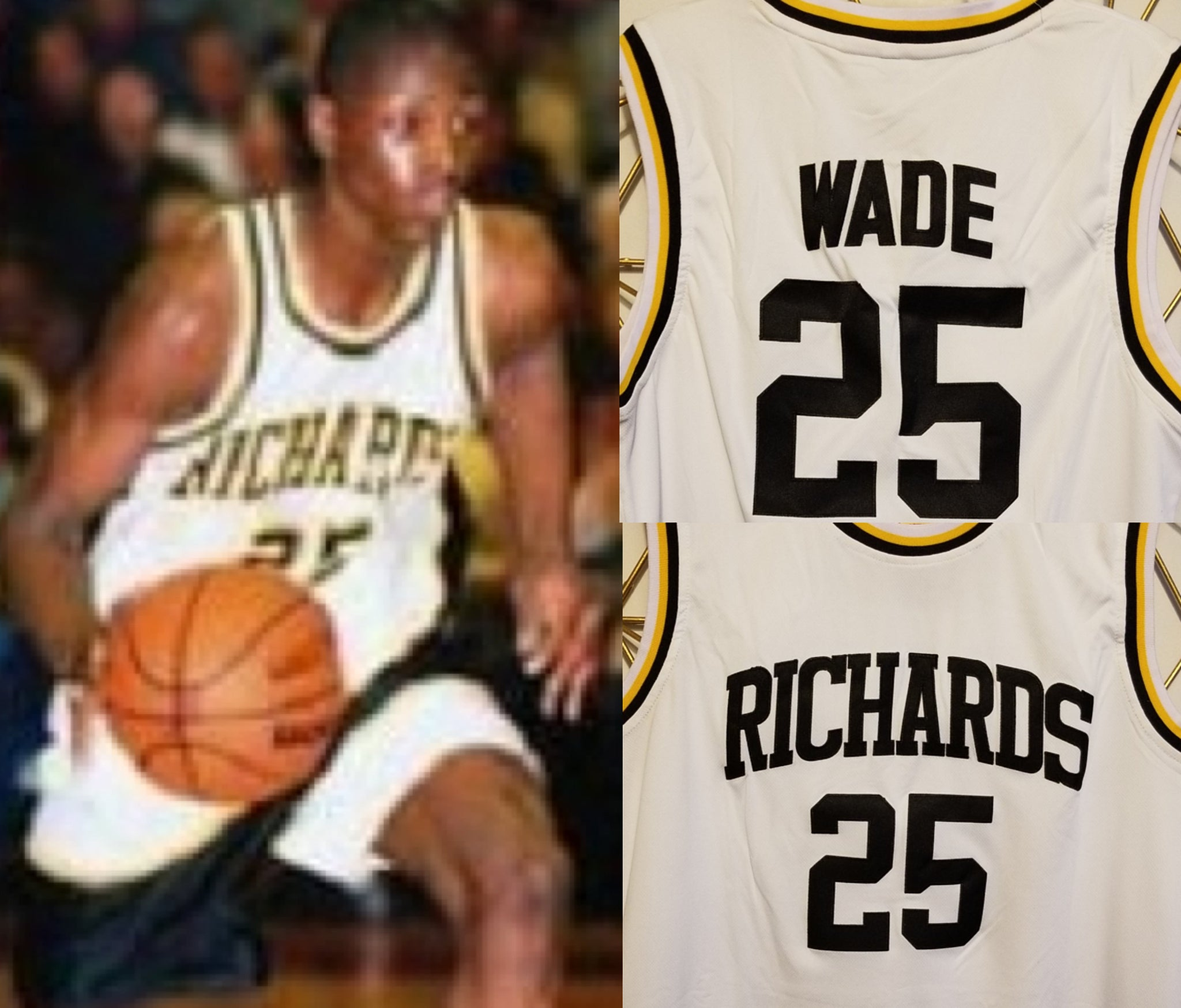 designer fashion c3f49 38026 Dwyane Wade Richards High School Basketball Jersey | Custom ...