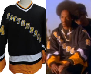 "Snoop Dogg ""Gin and Juice"" Pittsburgh Hockey #94 Music Jersey Custom Throwback 90's Retro Music Jersey"