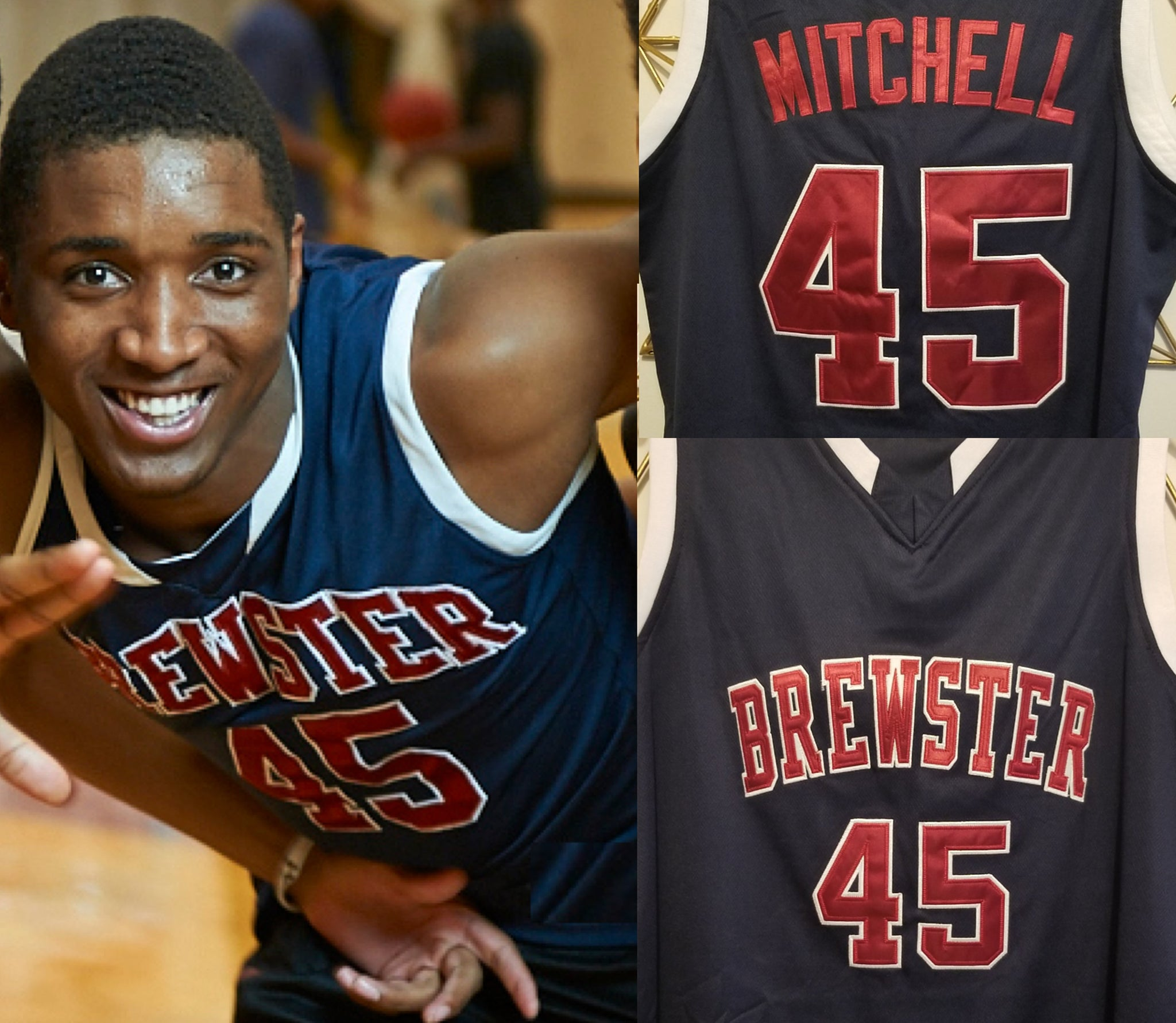 best value 6761e 1a28f Donovan Mitchell Brewster High School Basketball Jersey ...